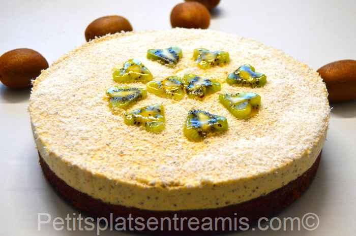 gâteau-à-la-mousse-de-kiwis recette