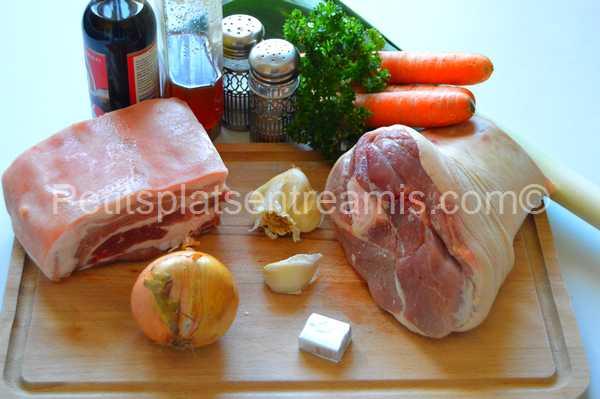 ingrédients jarret-de-porc-au-miel