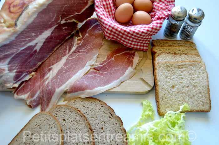 ingrédients petits sandwich au jambon de Bayonne