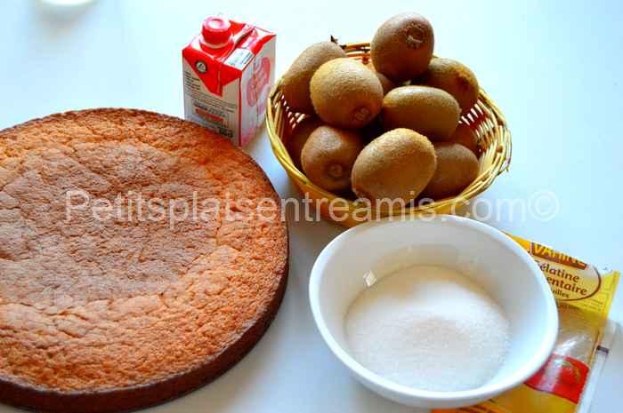 ingrédients pour gâteau-à-la-mousse-de-kiwis
