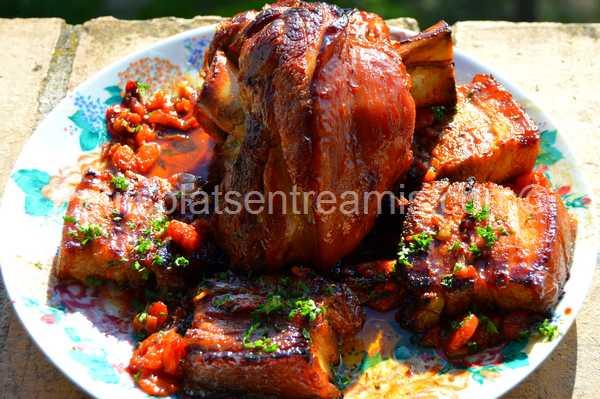 jarret-de-porc-au-miel recette