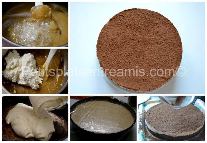 montage du gâteau de mousses