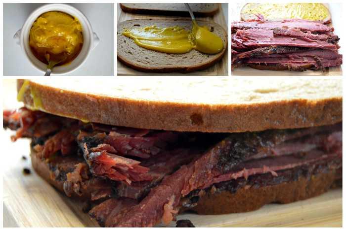 montage du sandwich à la viande fumée