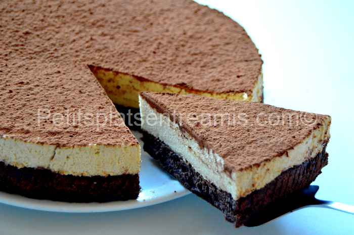 part de gâteau de mousses chocolat café