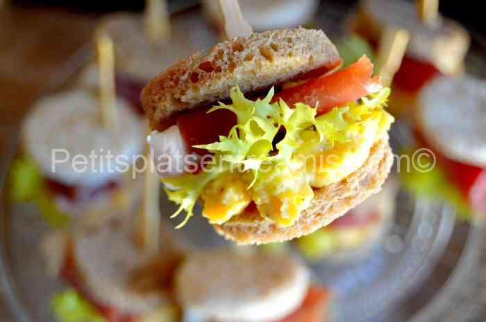 petit sandwich au jambon de Bayonne