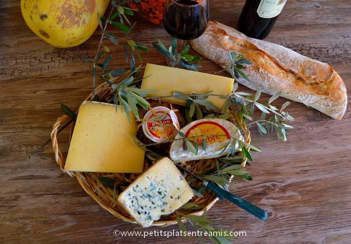 plateau de fromages de la fromagerie Pouillot