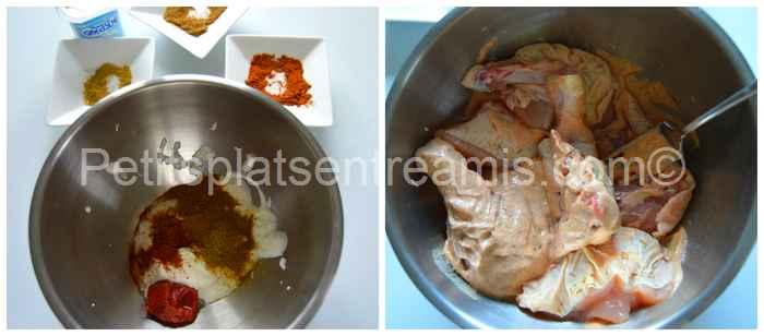 préparation marinade pour tikka massala