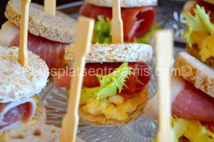 recette petits sandwiches au jambon de Bayonne