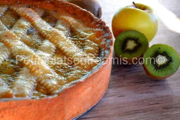 recette tarte aux pommes et kiwis