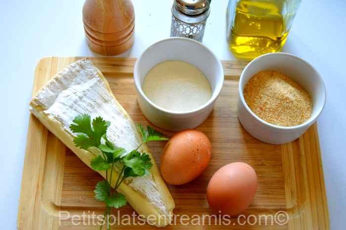 Ingrédients pour brie de Meaux pané