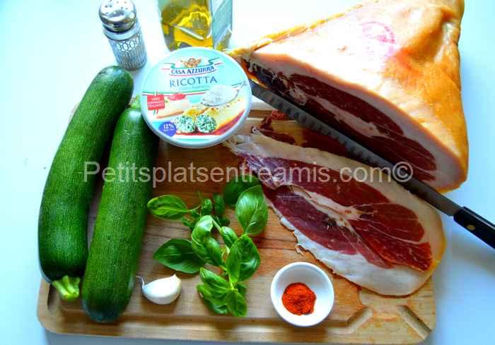 Ingrédients roulés fraîcheur au jambon noir de Bigorre