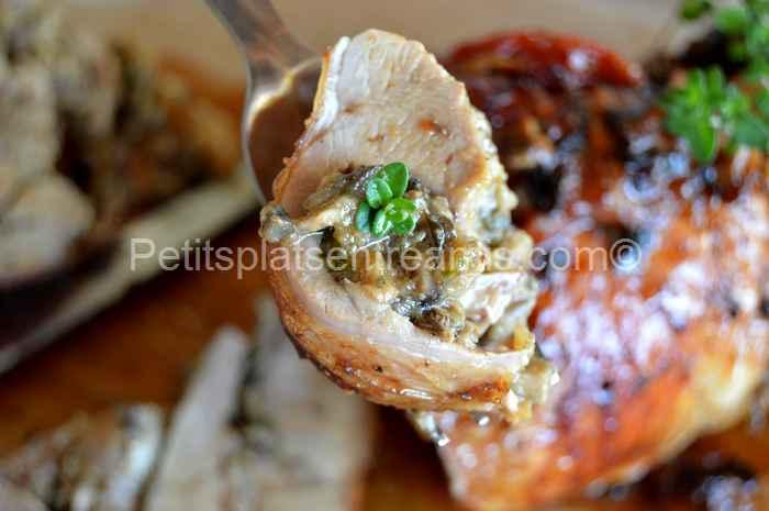bouchée de cuisse-de-dinde-à-la-forestière
