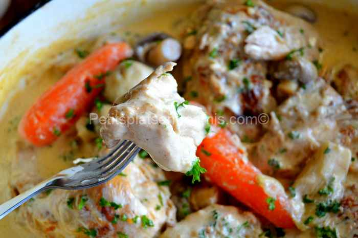 bouchée de poulet-au-cidre