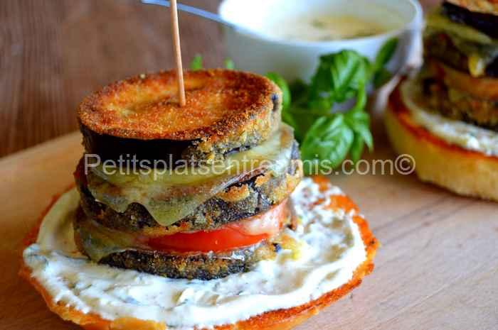 burger aubergine et cantal recette