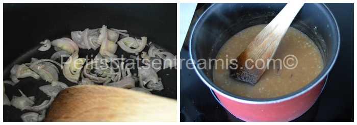 cuisson sauce à l'échalote