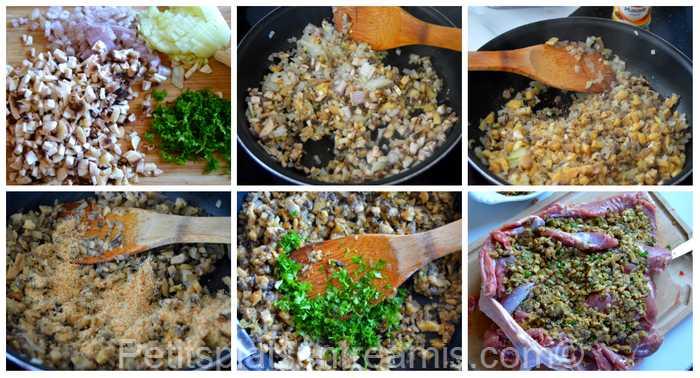 duxelles de champignons pour cuisse de dinde farcie