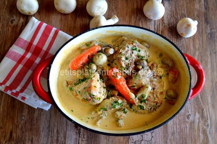 poulet-au-cidre recette