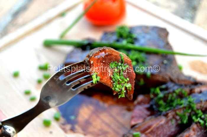 bouchée de flat iron steak