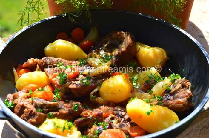 collier d'agneau au sirop d'érable recette
