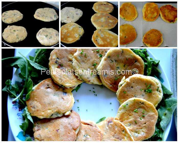 cuisson pancakes au jambon de Bayonne