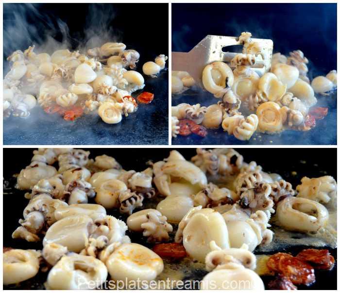 cuisson petites seiches à la plancha