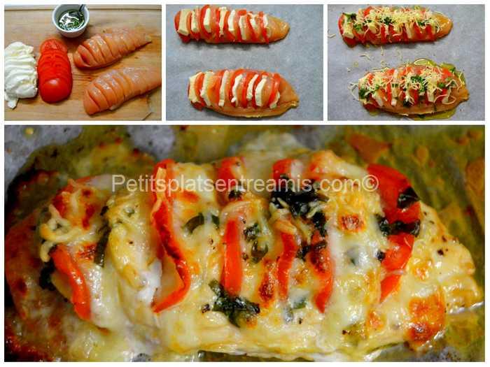 cuisson poulet tomate mozzarella