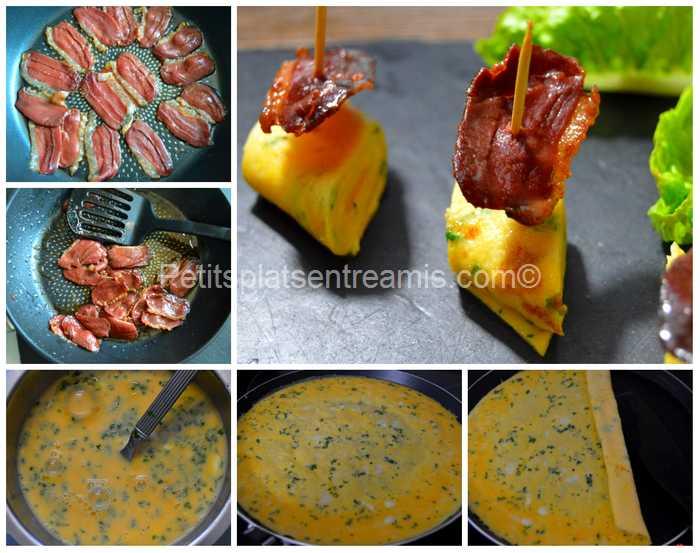 cuisson tapas d'omelette et magret de canard