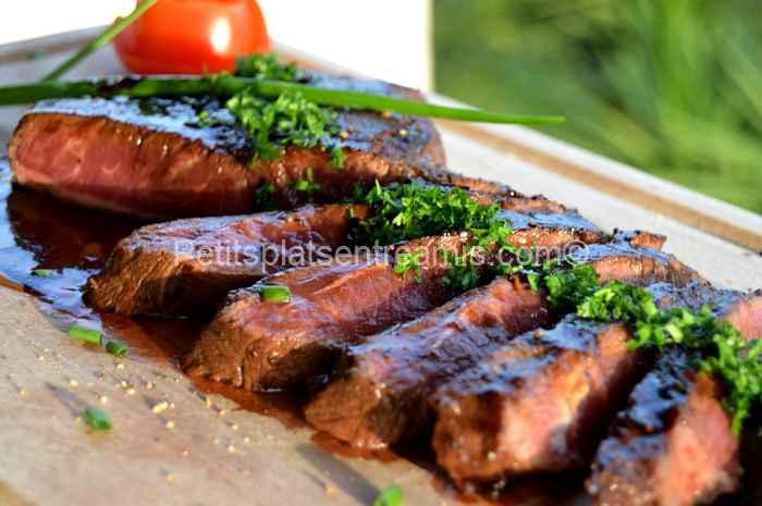 flat iron steak laqué recette