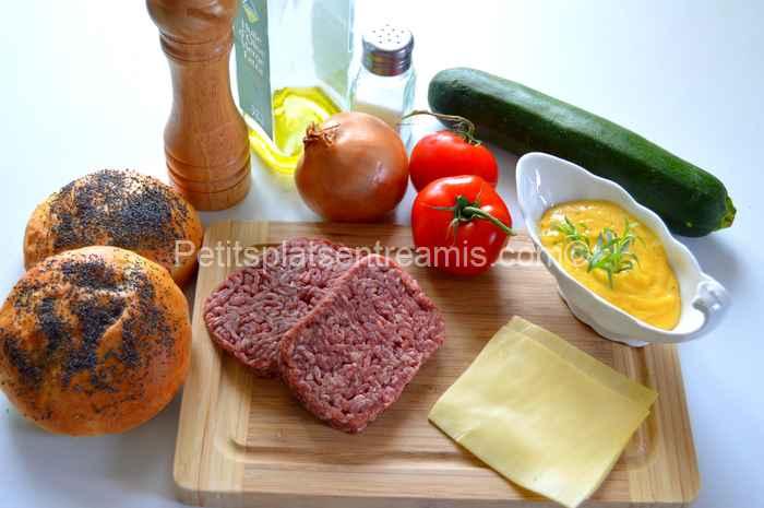 ingrédients burger de boeuf sauce béarnaise