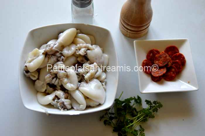 ingrédients petites-seiches-au-chorizo-à-la-plancha