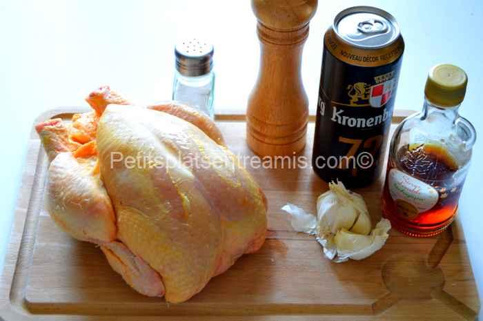 ingrédients pour poulet à la bière au barbecue
