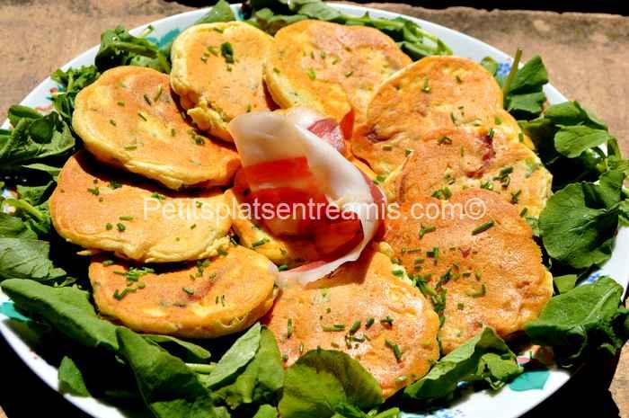 pancakes au jambon de Bayonne recette