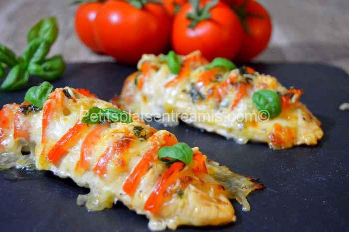 poulet tomate mozzarella recette
