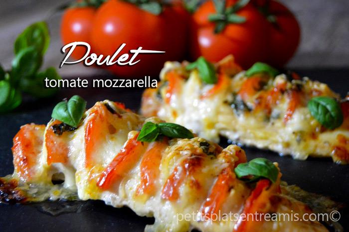 Poulet tomate mozzarella