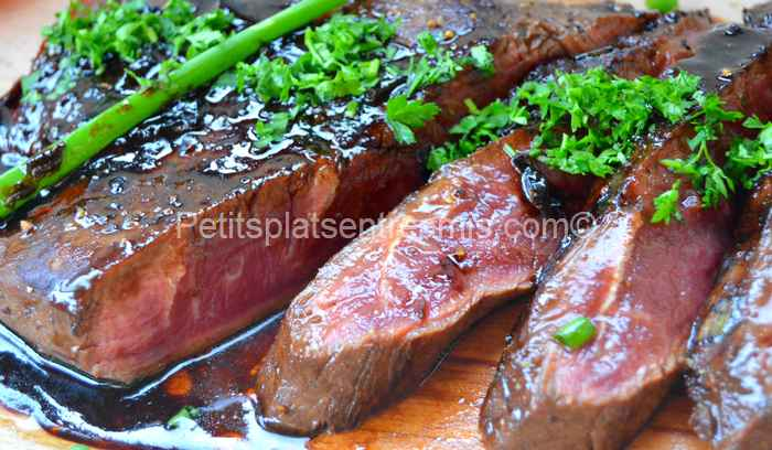 recette flat iron steak