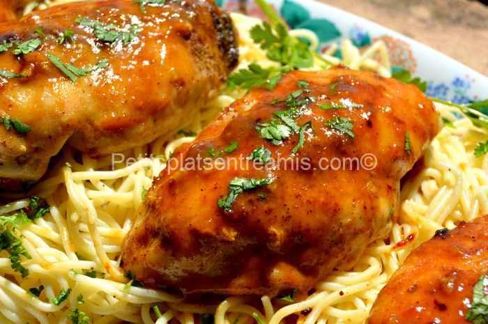 recette suprêmes de poulet à la moutarde et au sirop d'érable
