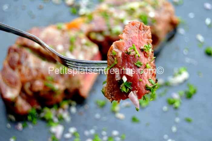 bouchée de faux-filet-au-beurre-persillé