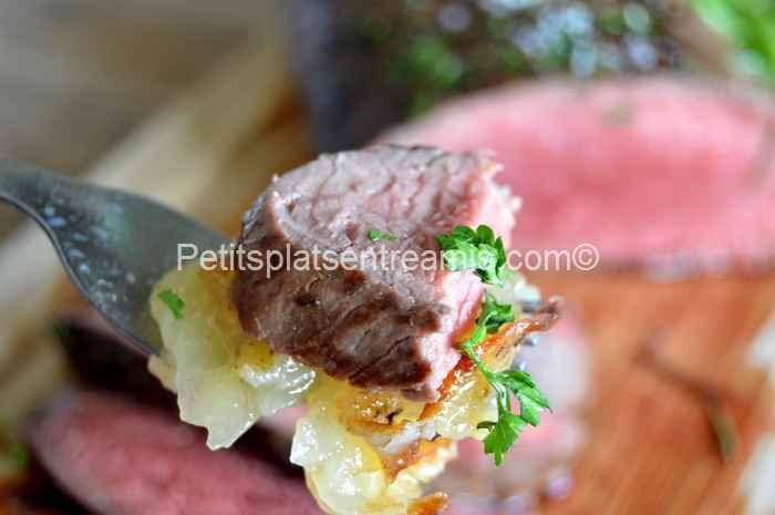 bouchée de filet-de-rumsteak-boulangère