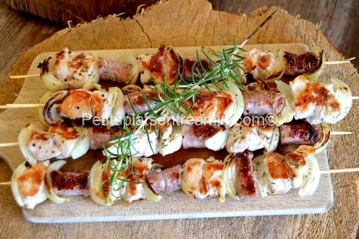 brochettes poulet-chipo recette