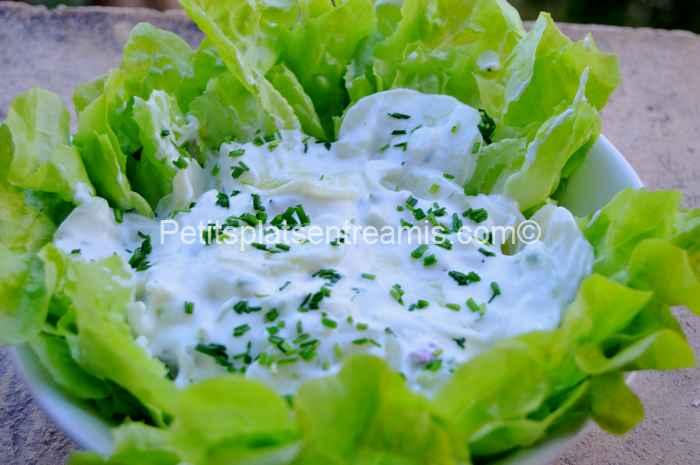 concombre au fromage blanc recette