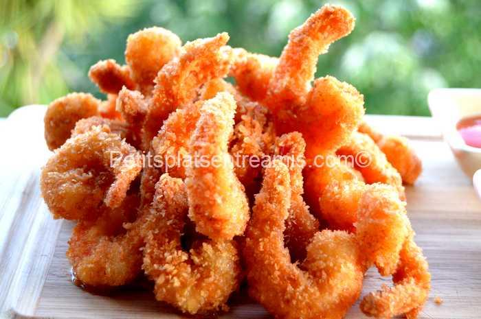 crevettes panées au panko recette
