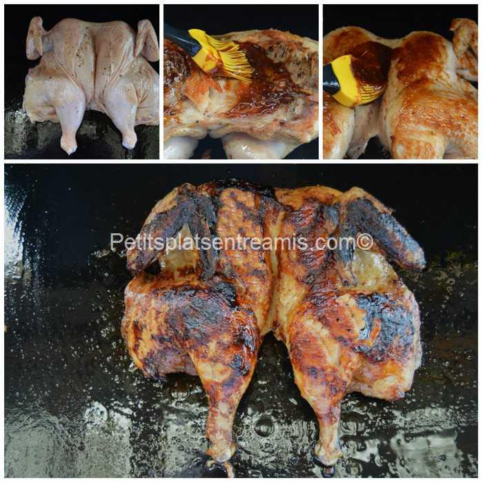 cuisson poulet en crapaudine à la plancha