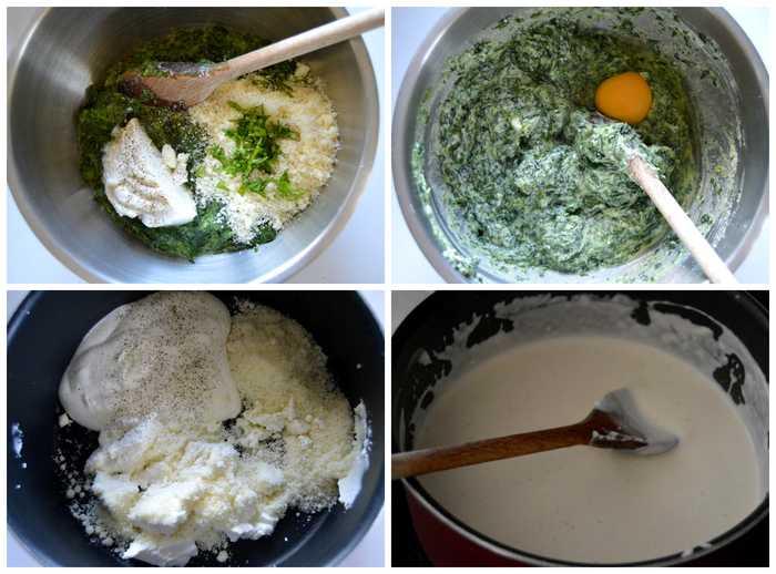 farce et sauce pour ravioles épinards ricotta