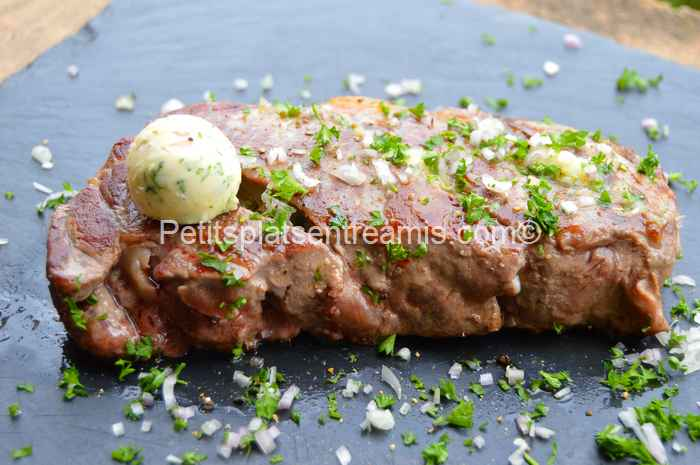 faux-filet-au-beurre-persillé recette