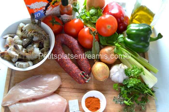 ingrédients Jambalaya