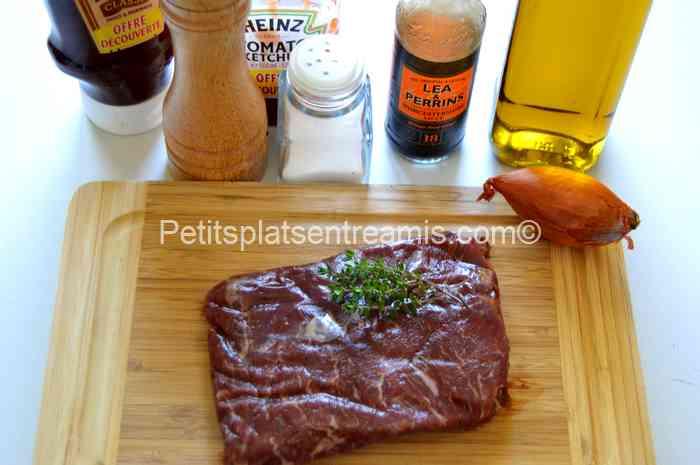 ingrédients pour bavette d'aloyau à l'américaine