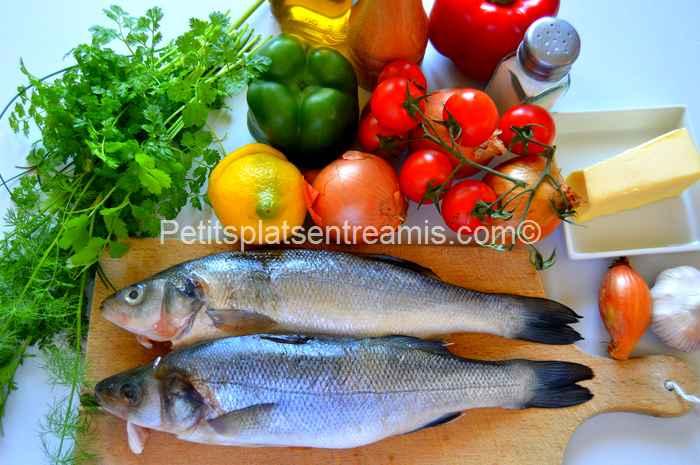 ingrédients pour loup grillé à la provençale