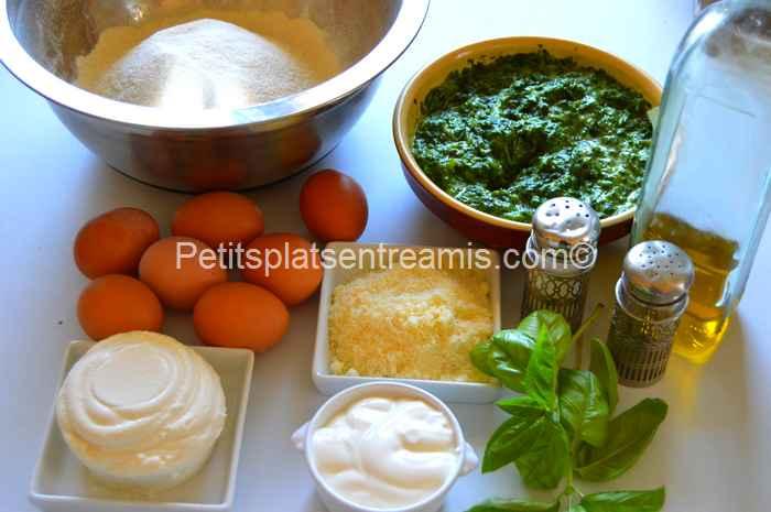 ingrédients ravioles épinards ricotta