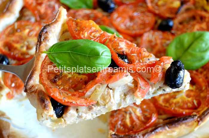 part de tarte thon et tomates