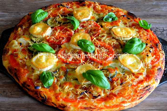 pizza au chèvre et basilic recette